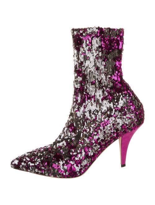 Valentino Sock Boots Purple