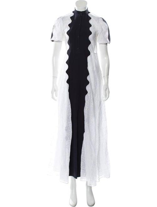 Valentino Eyelet Maxi Dress White