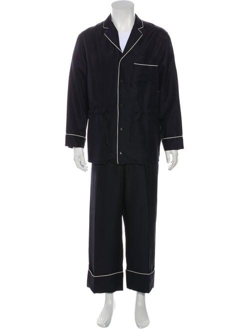 Valentino Silk Pajama Set navy