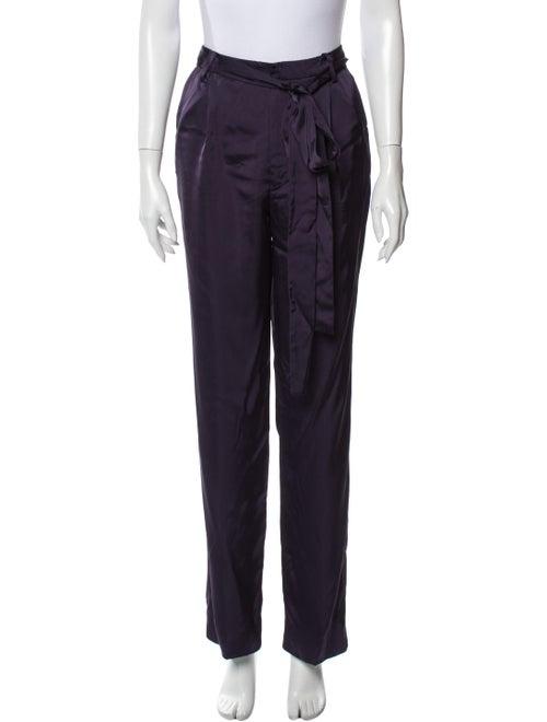 Valentino Wide Leg Pants Purple