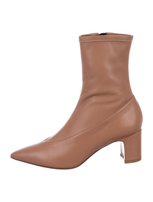 Valentino Leather Sock Boots Pink