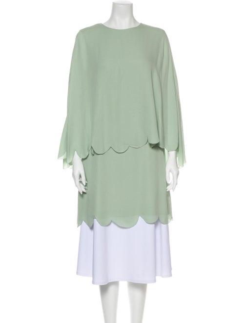 Valentino Silk Mini Dress Green