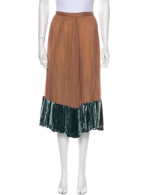 Valentino Silk Midi Length Skirt w/ Tags