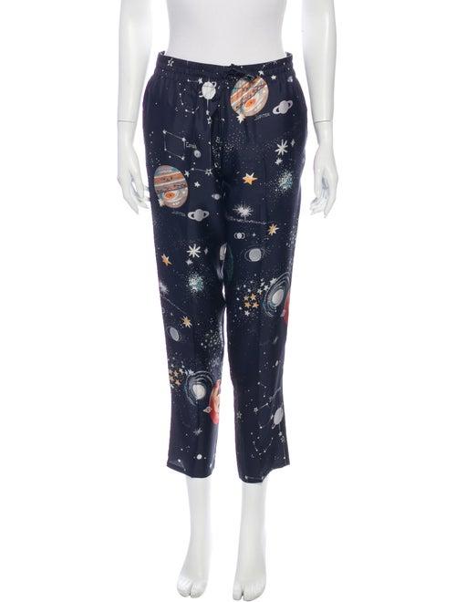 Valentino Silk Printed Pajamas Blue