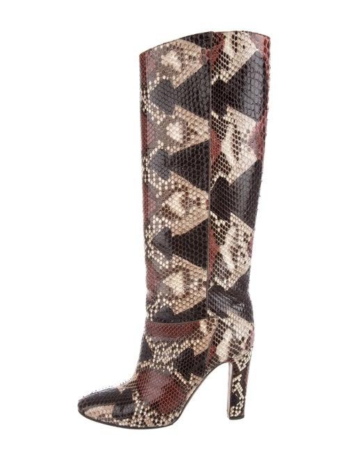 Valentino Snakeskin Boots Black
