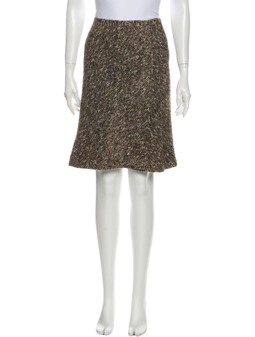 Valentino Tweed Pattern Knee-Length Skirt