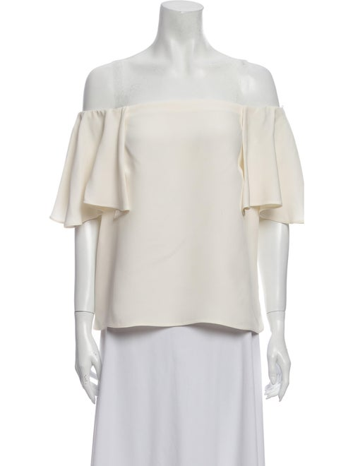 Valentino Silk Off-The-Shoulder Blouse