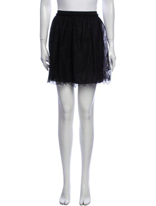 Valentino Silk Mini Skirt Black