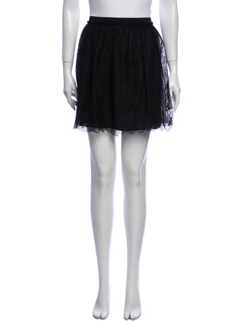 Valentino Silk Mini Skirt Black - image 1