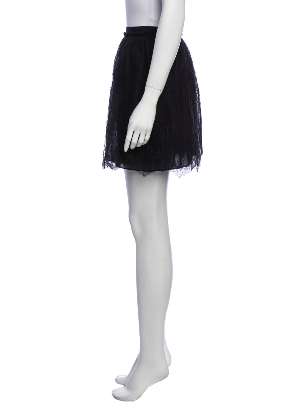 Valentino Silk Mini Skirt Black - image 2