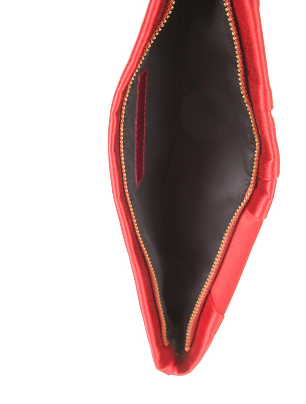 Valentino Pleated Satin Clutch Red - image 5