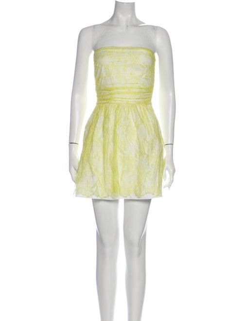 Valentino Silk Mini Dress Yellow