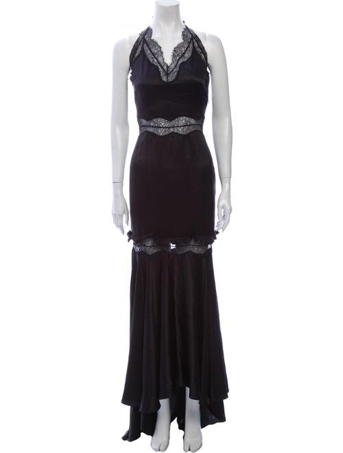 Valentino Silk Long Dress Black