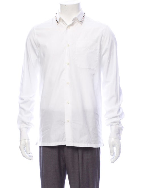 Valentino Long Sleeve Dress Shirt White