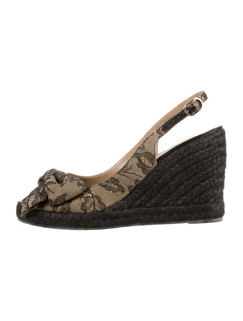 Valentino Lace Pattern Espadrilles