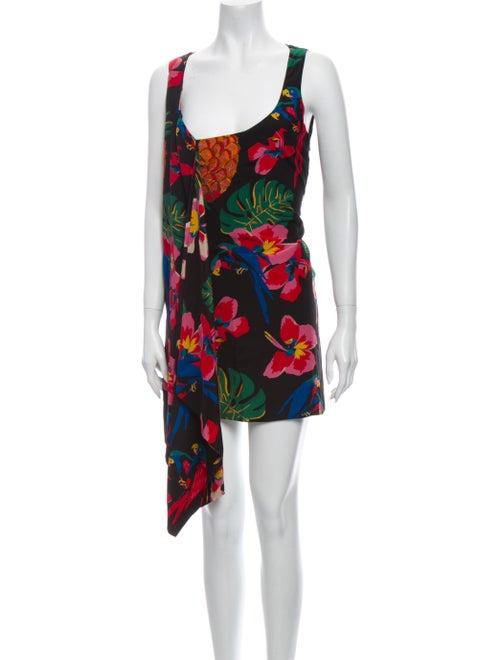 Valentino Silk Mini Dress Black