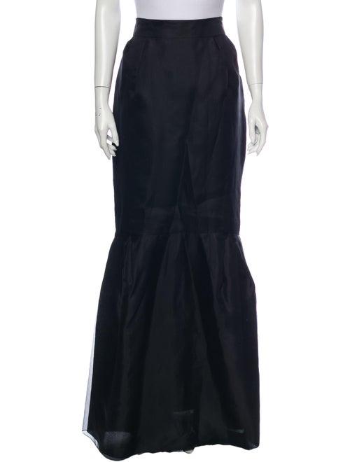 Valentino Vintage Long Skirt Black