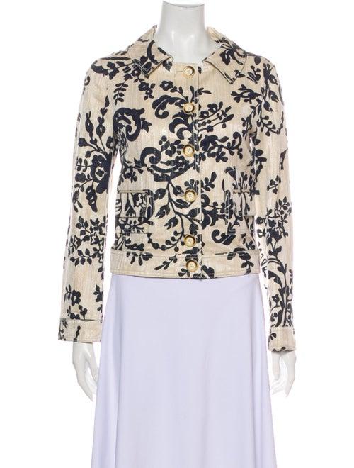 Valentino Floral Print Jacket White