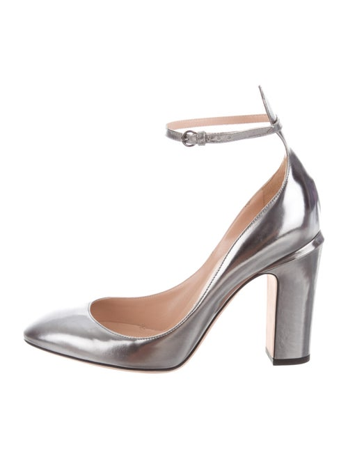 Valentino Leather Pumps Metallic