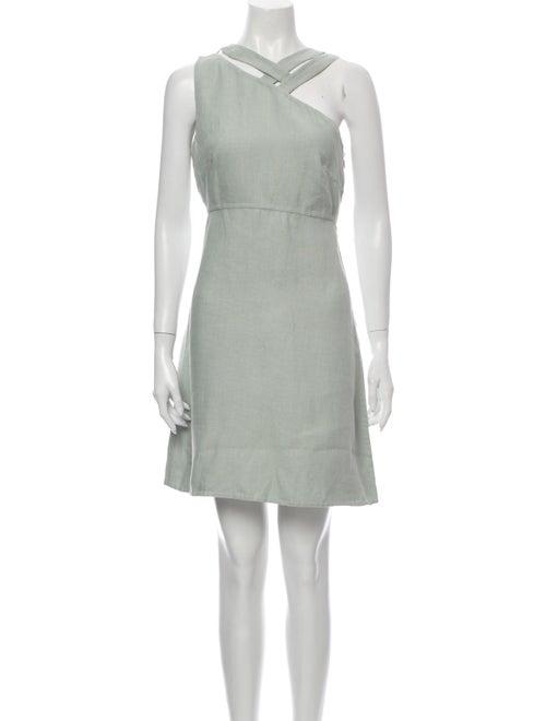 Valentino Linen Mini Dress Green