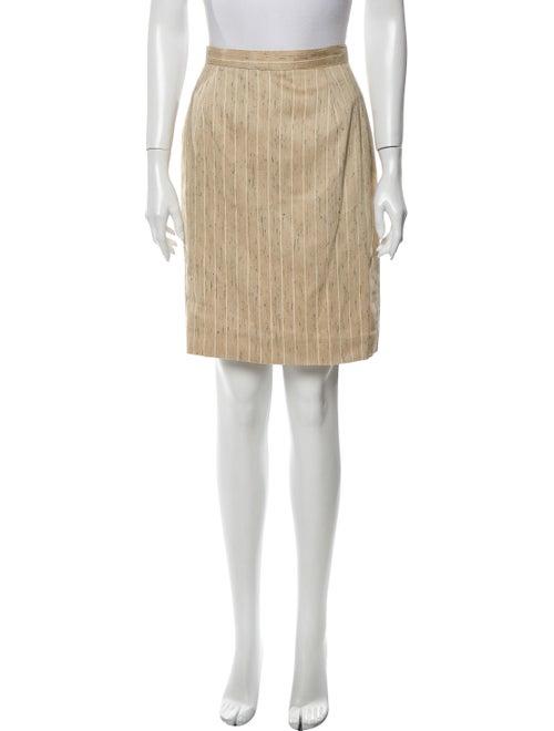 Valentino Silk Knee-Length Skirt Yellow