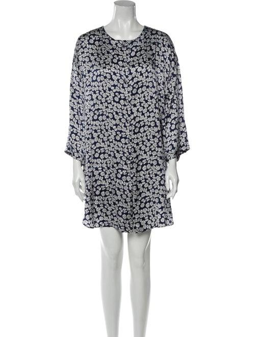 Valentino Silk Floral Print Pajamas Blue