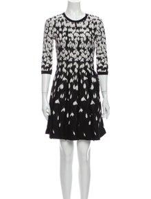 Valentino Printed Mini Dress w/ Tags