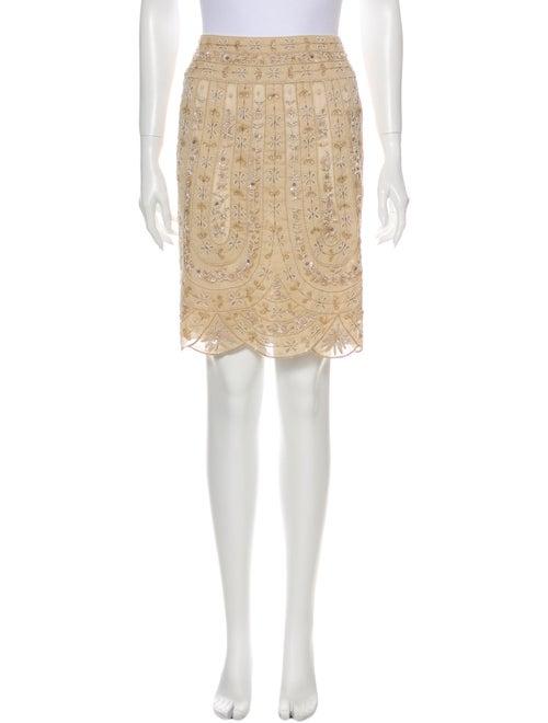 Valentino Lace Pattern Knee-Length Skirt