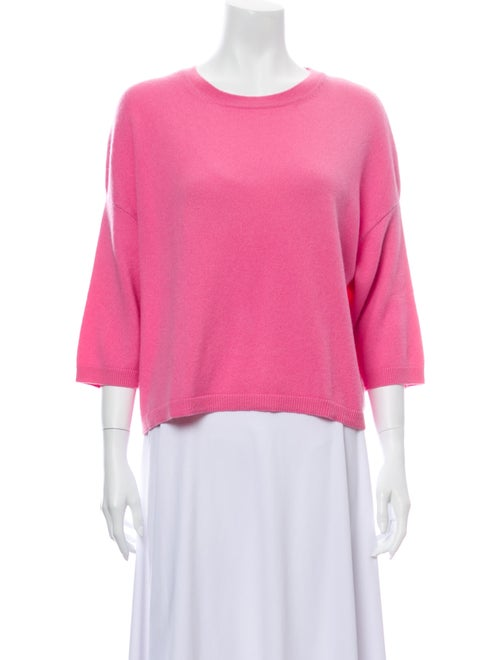 Valentino Cashmere Scoop Neck Sweater Pink