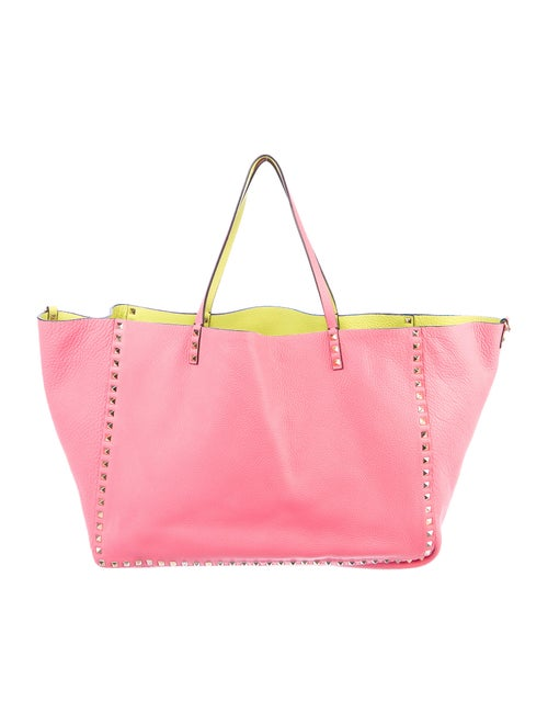 Valentino Leather Rockstud Tote Pink - image 1