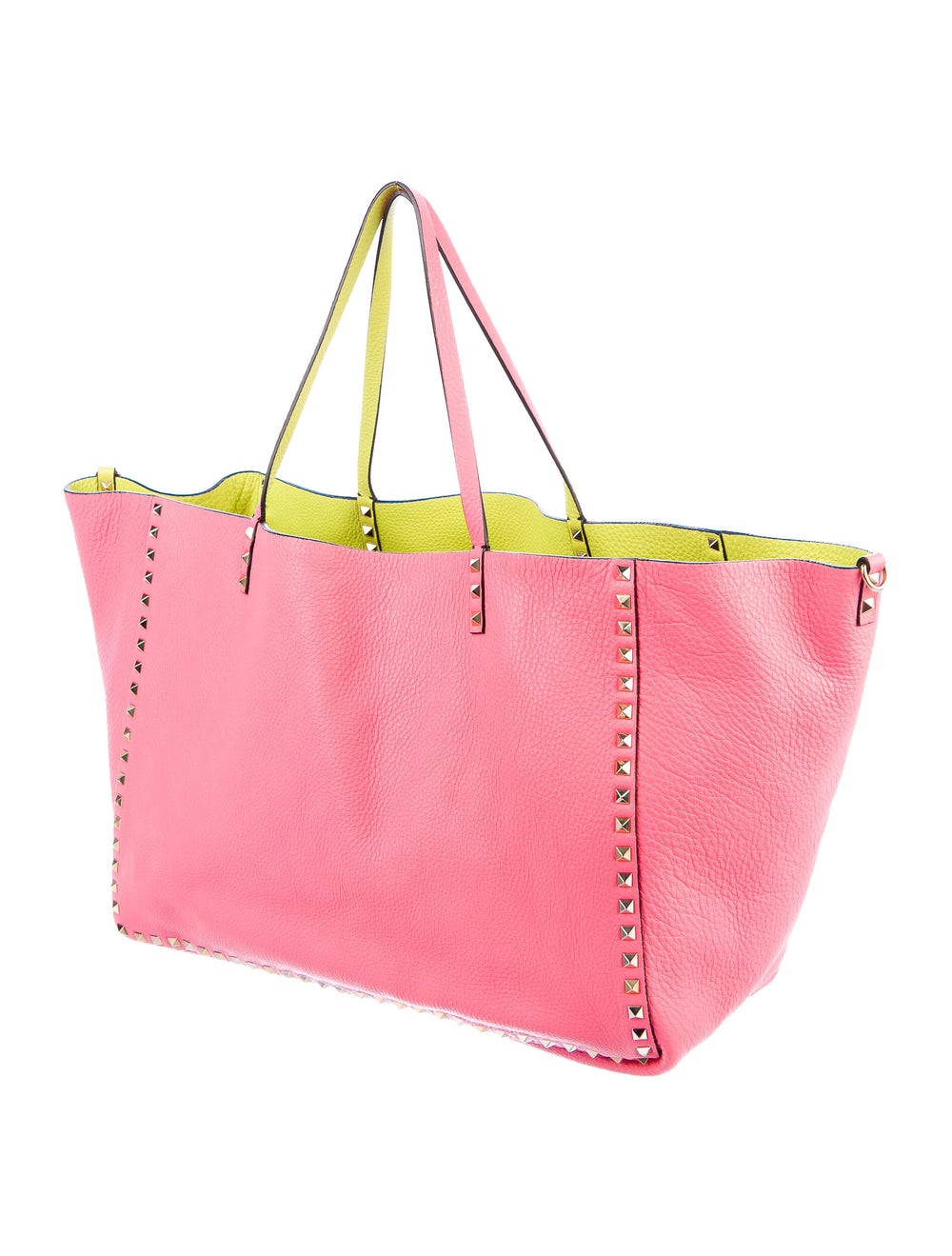 Valentino Leather Rockstud Tote Pink - image 3