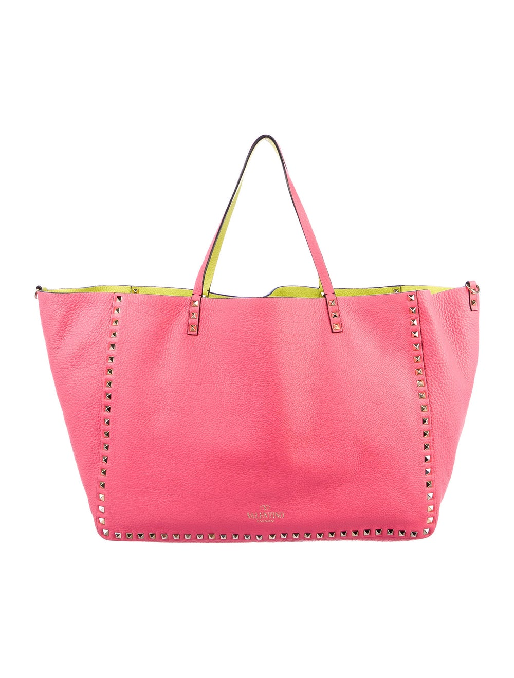 Valentino Leather Rockstud Tote Pink - image 4
