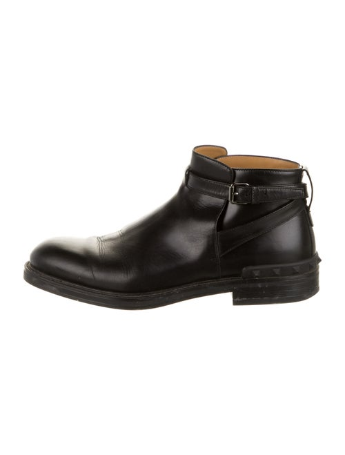 Valentino Leather Boots Black