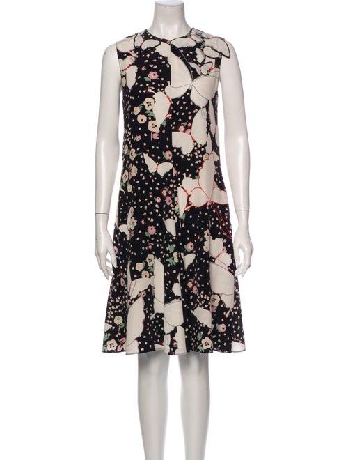 Valentino Silk Knee-Length Dress Black
