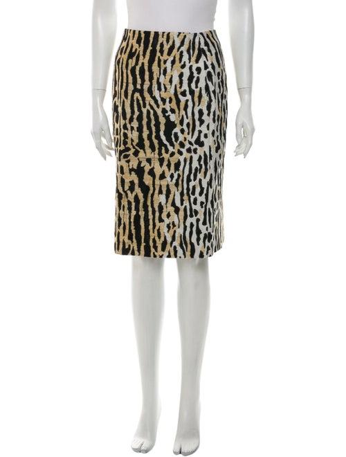 Valentino Animal Print Knee-Length Skirt w/ Tags