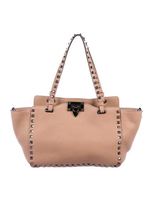 Valentino Leather Rockstud Tote Pink