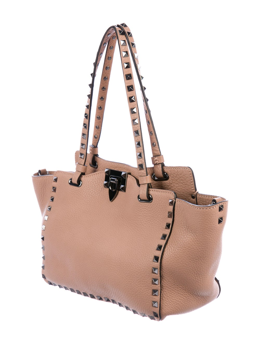 Valentino Leather Rockstud Tote Pink - image 3