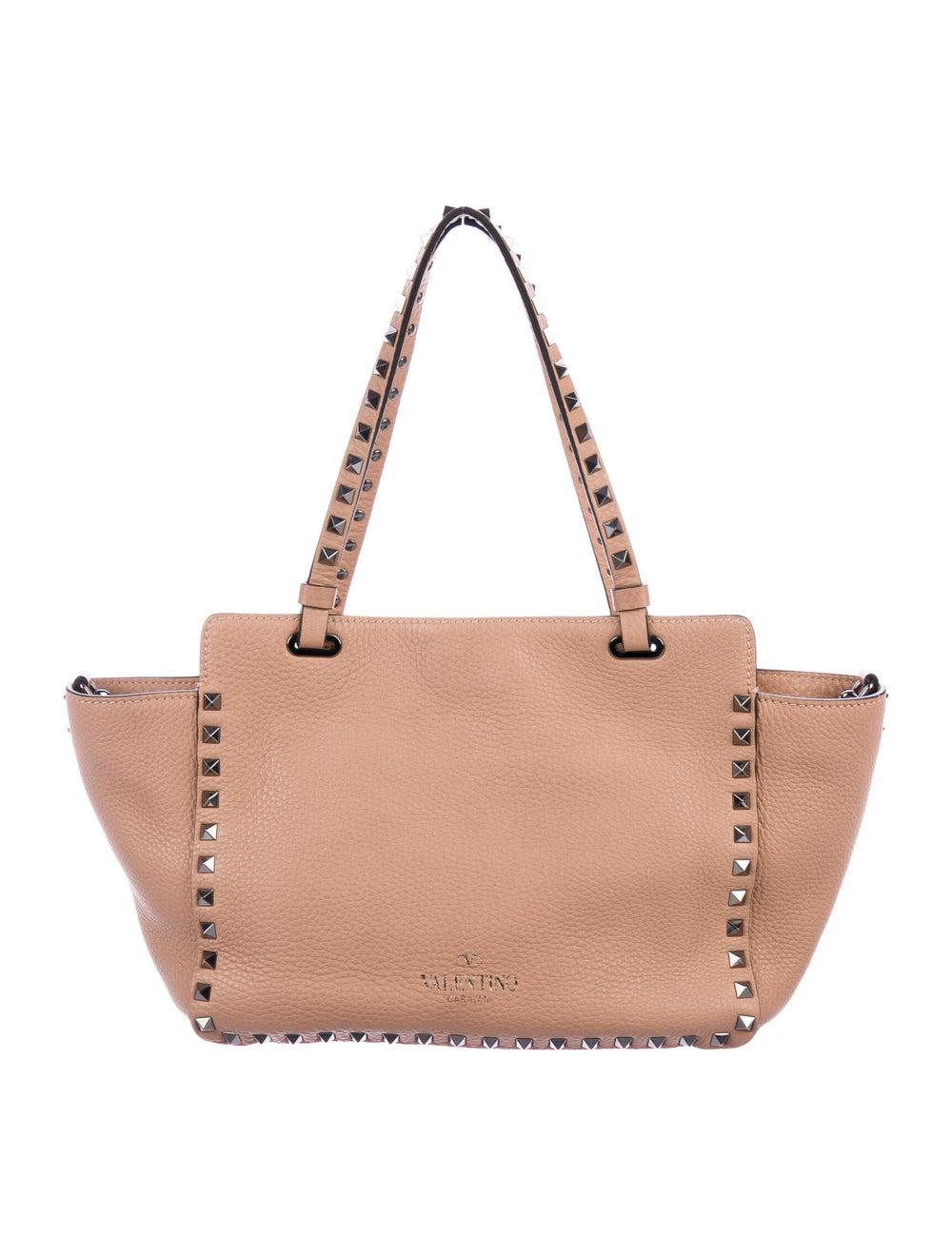 Valentino Leather Rockstud Tote Pink - image 4