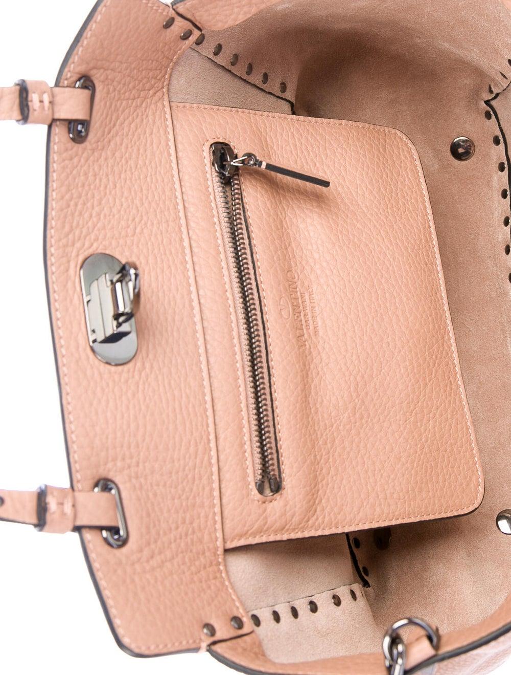 Valentino Leather Rockstud Tote Pink - image 5