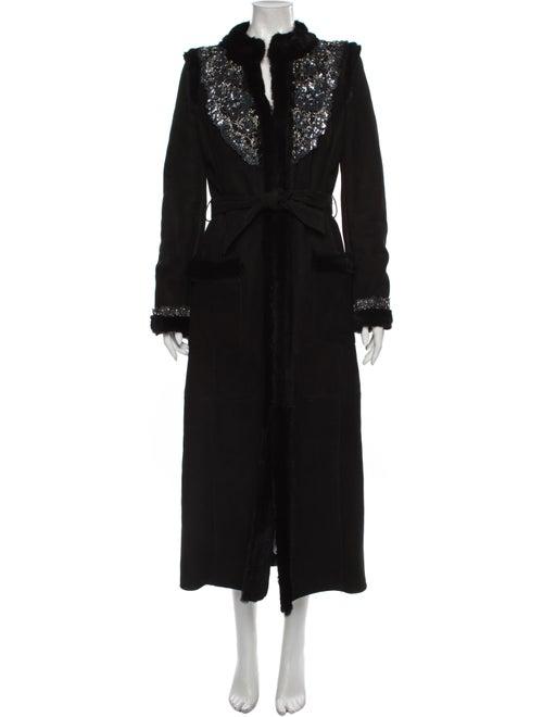 Valentino Fur Coat Black