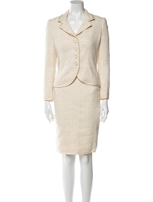 Valentino Printed Skirt Suit
