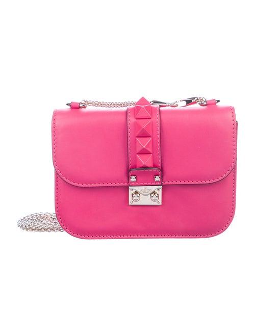 Valentino Small Glam Rock Crossbody Bag Pink