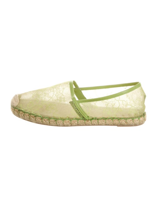 Valentino Lace Pattern Espadrilles Green