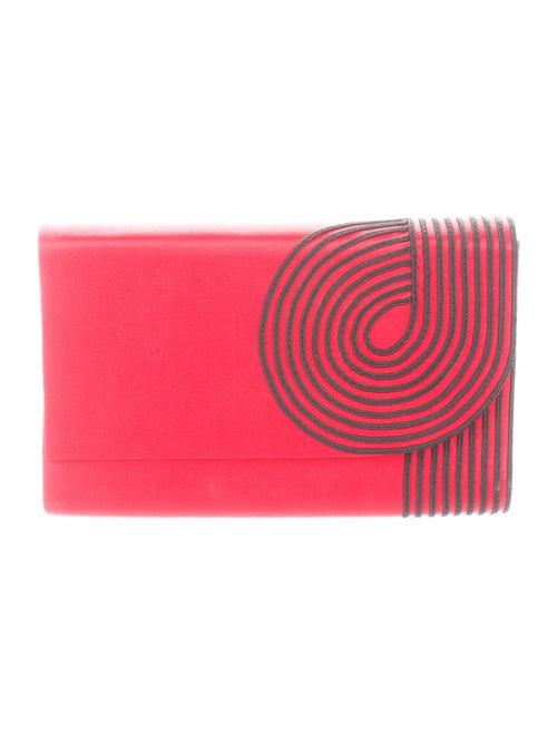 Valentino Vintage Satin Clutch Red