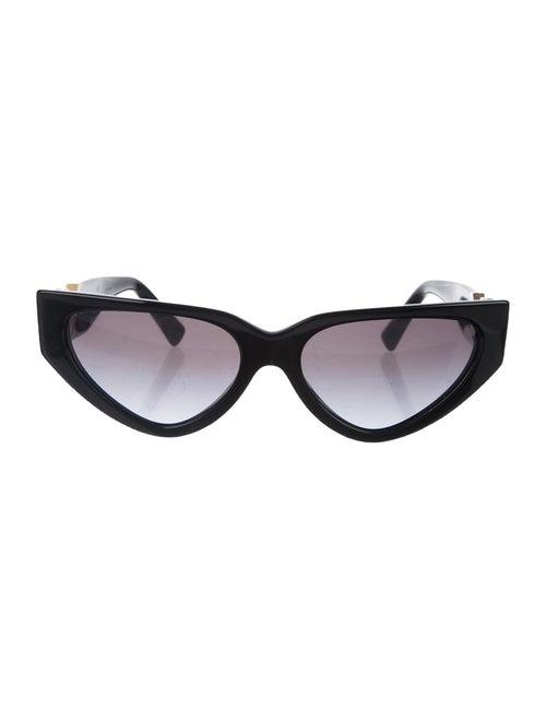 Valentino Cat-Eye Rockstud Sunglasses Black