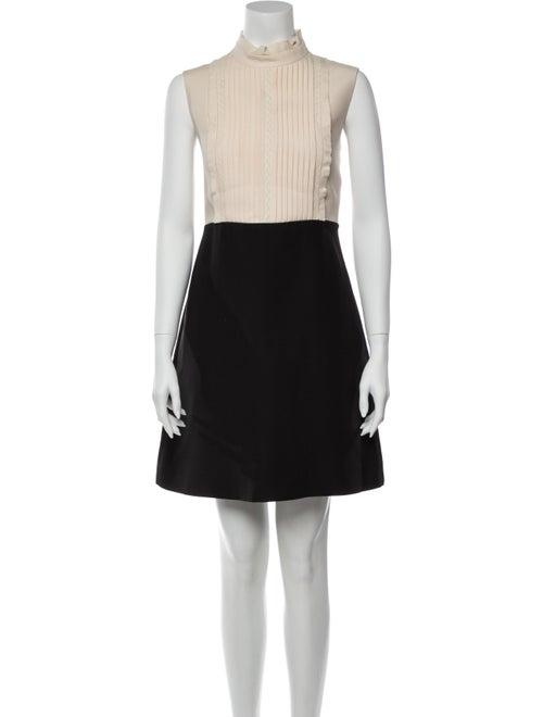 Valentino Colorblock Pattern Mini Dress