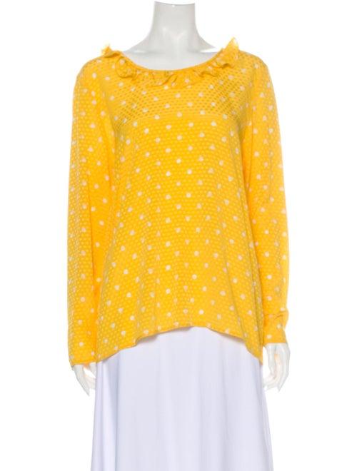 Valentino Vintage Silk Blouse Yellow