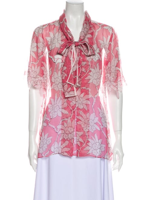 Valentino 2018 Rhododendron Blouse Pink
