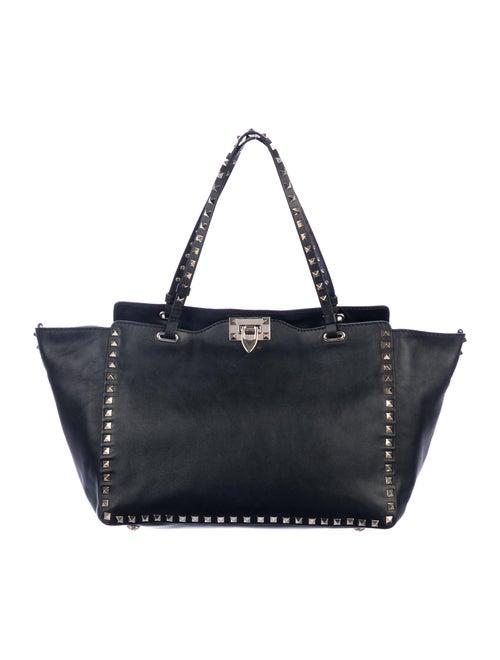 Valentino Leather Rockstud Tote Black