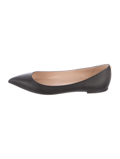 Valentino Leather Ballet Flats Black